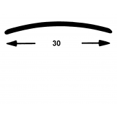 Nahtdeck Schiene 30 mm gel. Edelstahl