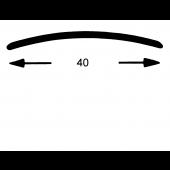 Nahtdeck Schiene 40 mm gel. Edelstahl