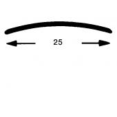 Nahtdeck Schiene 25 mm gel. Edelst.